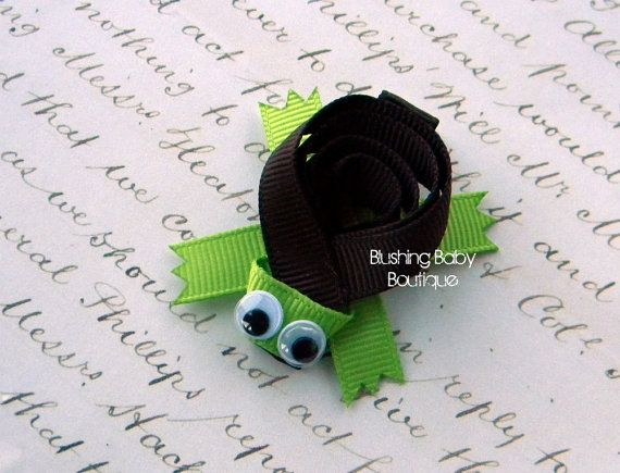 Turtle Hair Clip Perfect for Spring Birthdays and by blushingbaby, $3.50