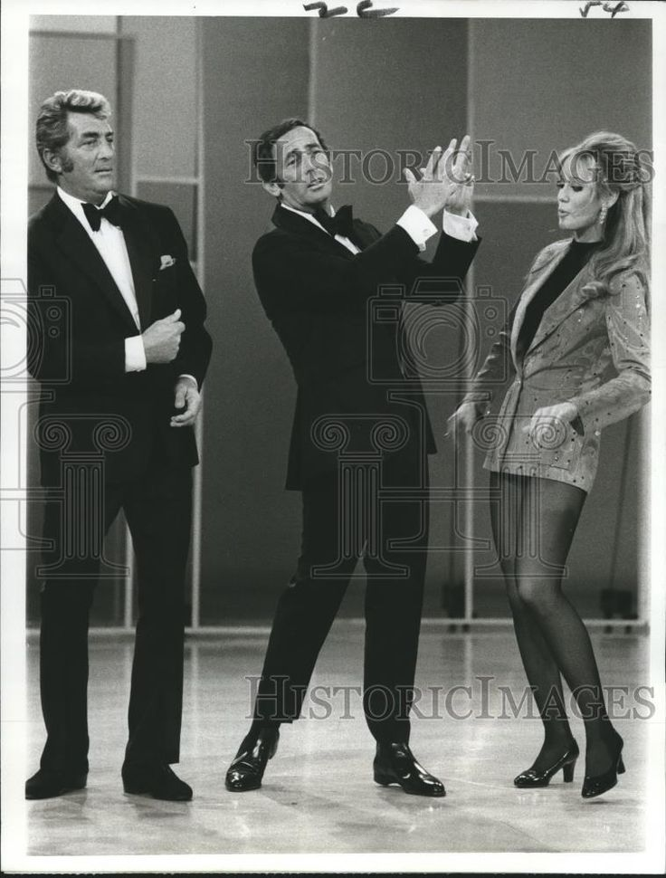 1972 Press Photo Dean Martin, Joey Bishop, Lynne Latham in The Dean Martin Show