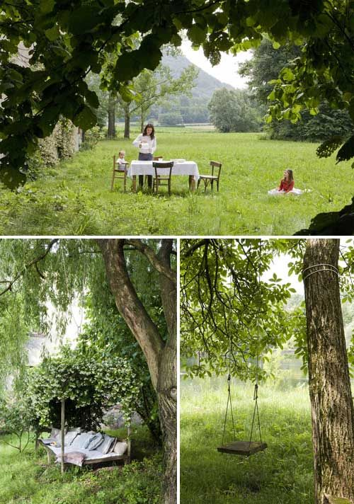 The place for a foody lover of nature!  Dining in your own backyard, at your vacation home - just like having a picnic, only more intimate and on your own property!  For us, that's the perfect weekend, no doubt about that.