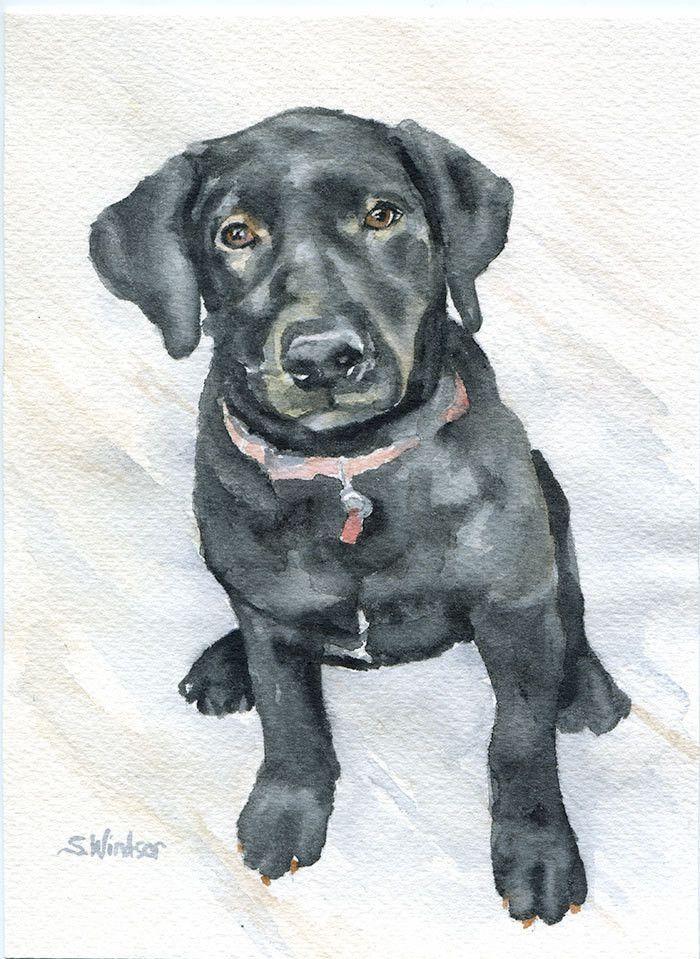 Custom Pet Portrait Watercolor Painting - 5 x 7 - Cat Portrait - Dog Portrait…