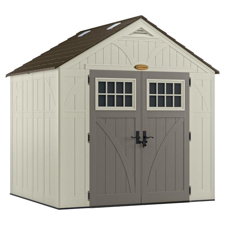 Tremont Storage Shed 8 X 7 Vanilla Gray Suncast