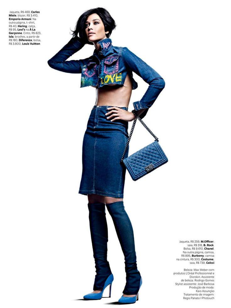 Denim Dominated Fashion Photography : vogue brasil october