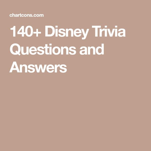 140+ Disney Trivia Questions and Answers