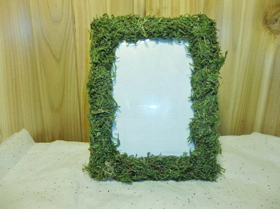 6 Moss Covered Frames 5X7 Table Number frames Shabby Chic Rustic Wedding Decoration wooden numbers escort table place setting moss frames