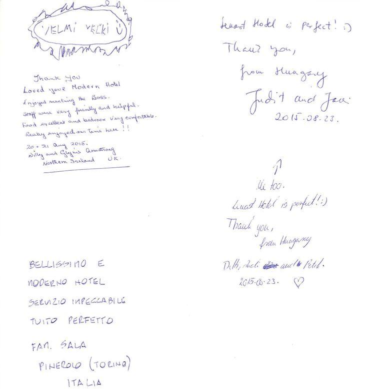 Wpis z księgi pamiątkowej