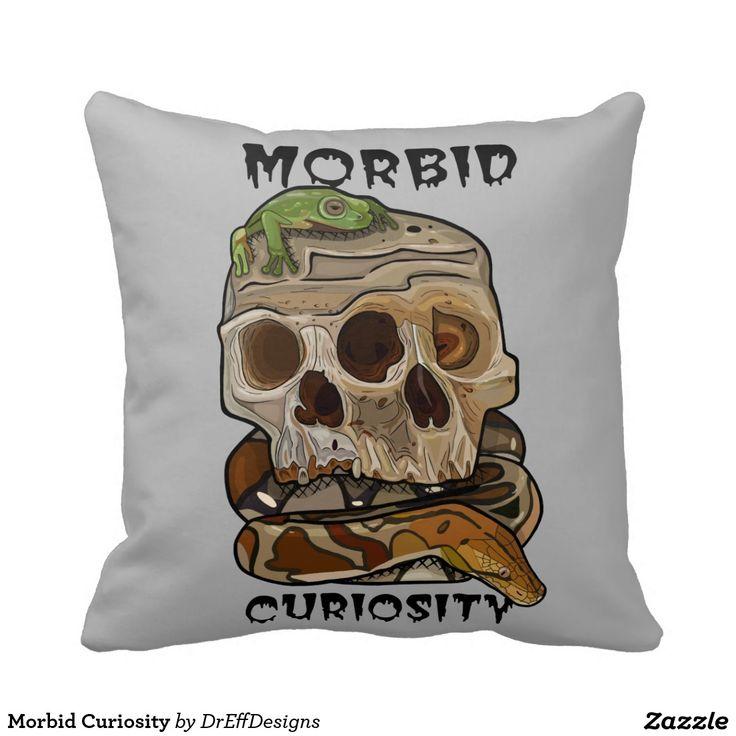 Morbid Curiosity Throw Pillow