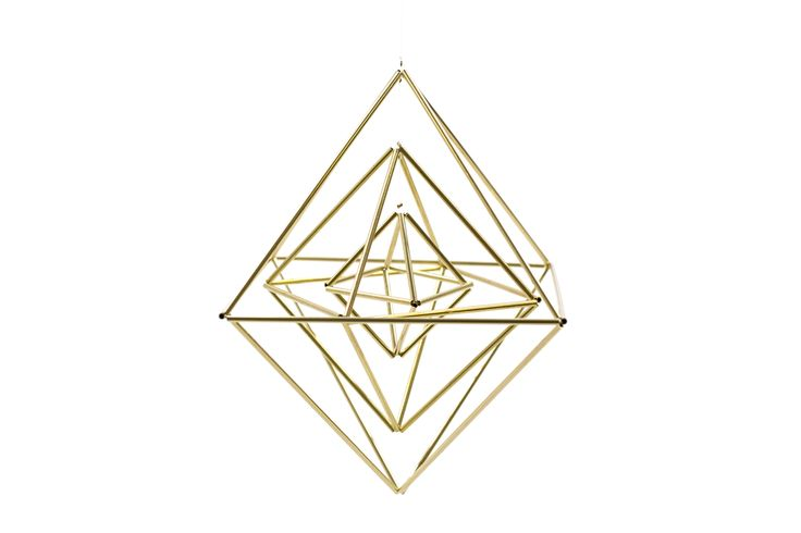These gorgeous Himmeli by Handmade Sam*Made are an elegant year-round addition to any home or office. These geometric Himmeli ornaments can be suspended from the ceiling to float in the breeze, utiliz