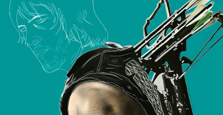 Wip 2 Daryl Dixon - The Walking dead  Photoshop / finished