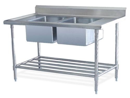 New Double Stainless Steel Commercial Catering Kitchen Sink unit 1200 x 600mm | eBay