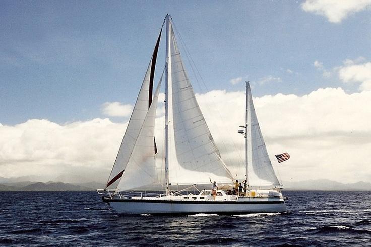 11.000 miles  -  Sailingvessel Jump Up  -  Robert '53  -  George Town (Cayman Islands)  - Caribbean Sea  -  Pacific Ocean  - Whangarei (New Zealand)  -  January 1997 - December 1997