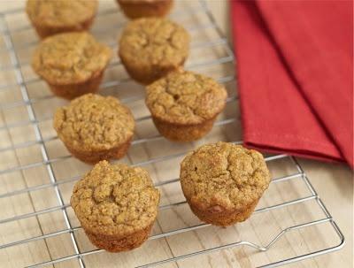 Healthy maple-pumpkin mini muffins -- from the Kitchen Ninja...