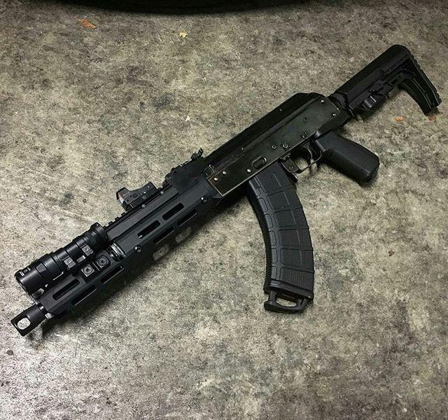 AK47 Pattern rifle with equipment from troyindustries, magpul, ,missionfirsttactical ,slrrifleworks, arsonmachine ,usmachinegun, surefire. burrisfastfire, ultimak
