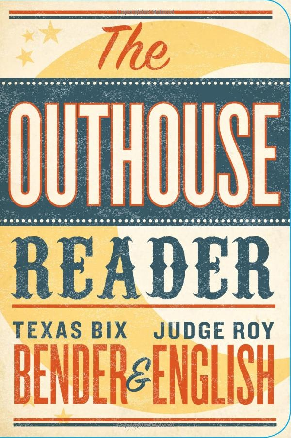 The Outhouse Reader book cover - modern Western type