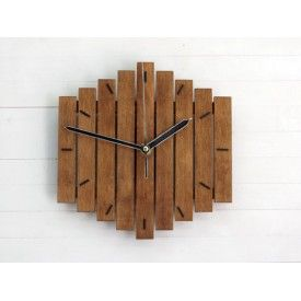 "Wood Wall Clock ""Romb I"","