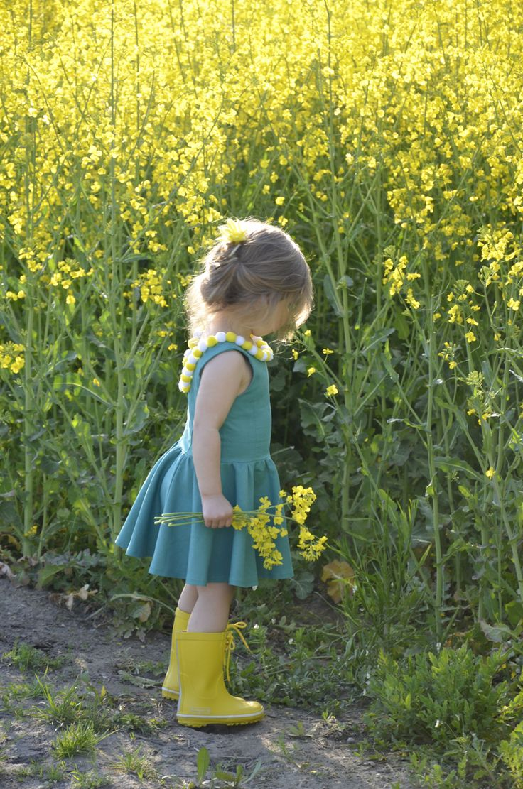Country Living ~ Child and mustard field...