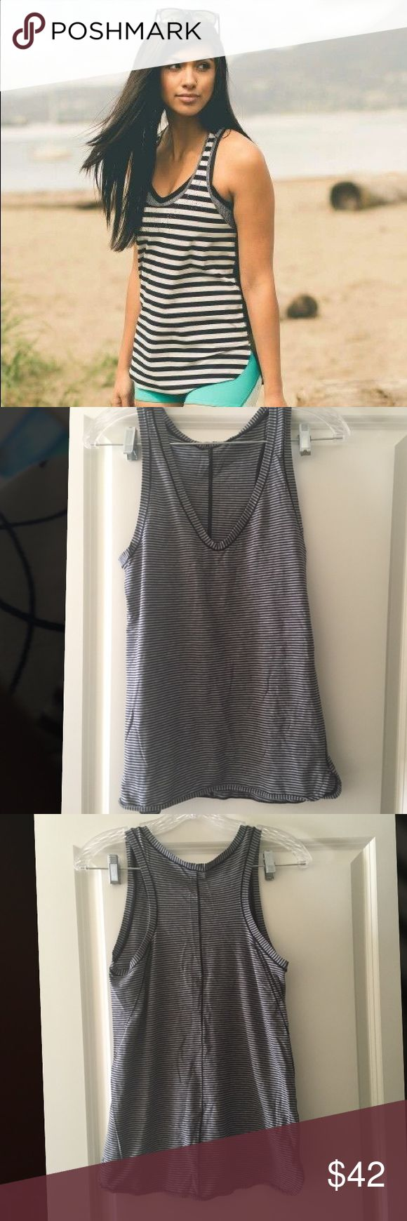 Lululemon blue and white striped tank BUNDLE WITH 2 OR MORE ITEMS FOR A 30% DISCOUNT lululemon athletica Tops Tank Tops