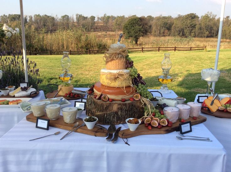 Wedding Cheese Cake Display at Val Bonne Country Estate