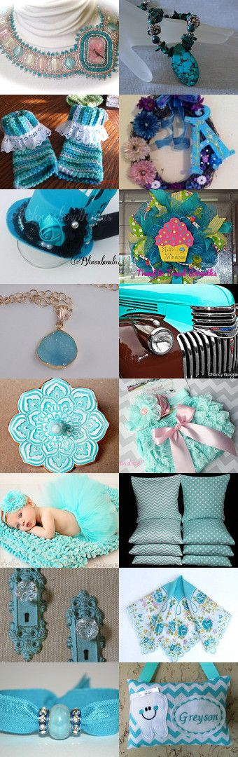 Aqua Thursday by Sue Green on Etsy--Pinned with TreasuryPin.com #aquagiftguide