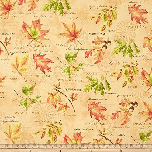 fall festival large allover peach fabric by the yard wilm. Black Bedroom Furniture Sets. Home Design Ideas