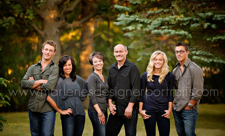family with adult children...I like it...but it bugs me the way the photo is cropped