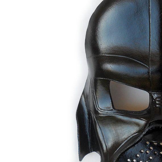 Masque de Darth Vader Star Wars cuir cadeau fête par LMEmasks
