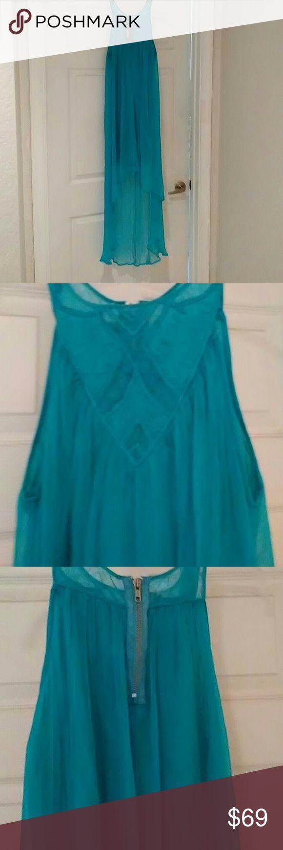 Beautiful turquoise maxi high low dress by Buffalo Turquoise maxi dress, high low very attractive. Buffalo David Bitton Dresses High Low