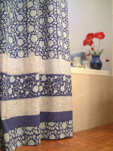 Glorious Cotton Shower Bath Curtain Line With A Plastic Liner