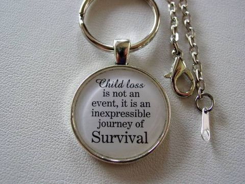 Child Loss Is Not An Event It Is An Inexpressible Journey of Survival Angel Wings Inspiring Quote Keychain or Necklace Memorial Jewelry