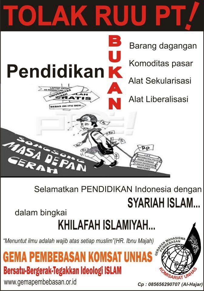 Pendidikan bukan barang dagangan!!