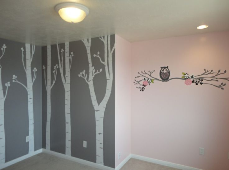 Artistic Murals: Nursery's with Aspen Trees and owls