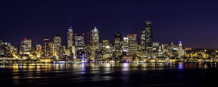 Seattle downtown at night by Tamas Fekete on 500px