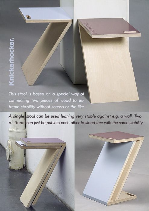 Name Of Design : Knickerhocker Stool Design By : Cornelius Comanns From  Germany