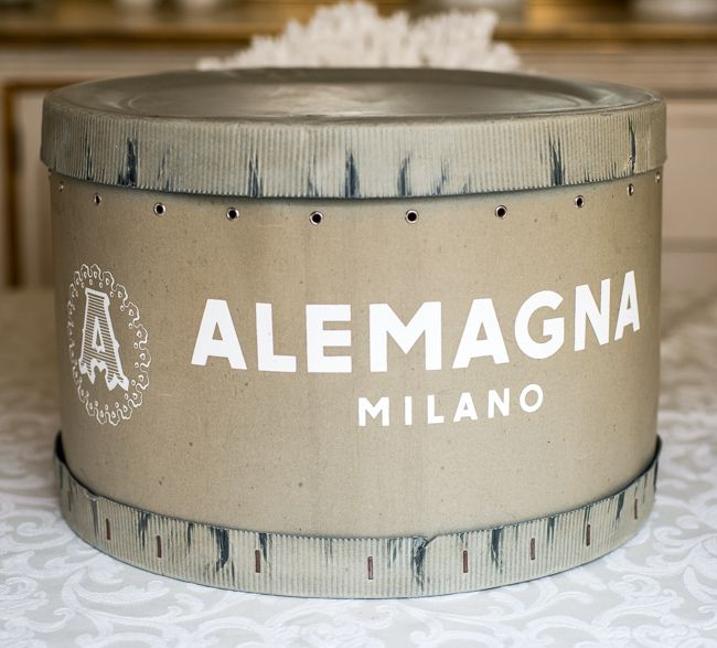 Vintage Italian Hat Box From Alemagna, Milano