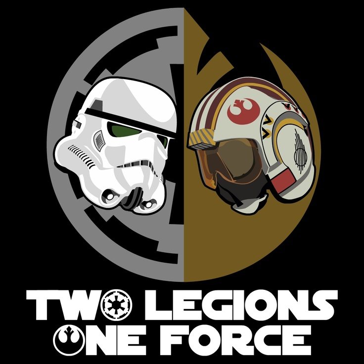 Dual graphic I created for The 501st Legion and The Rebel Legion.