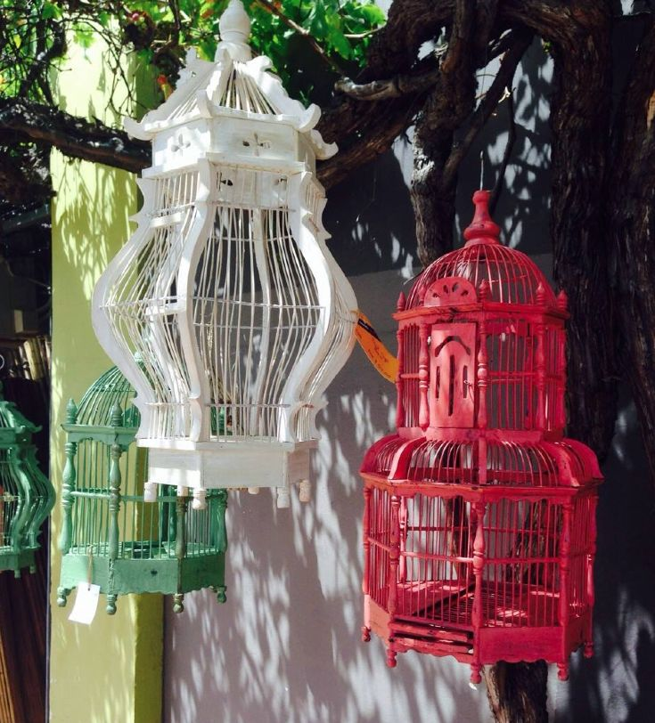 Bird cages outdoor decor #birdcages #birds #gardening #decor