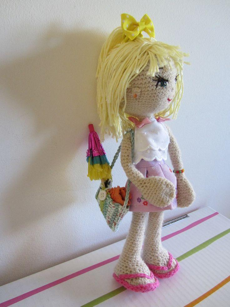 Esta muñeca la hice para Mari. 2014. E Lázare. doll muñecas ganchillo. Amigurumi