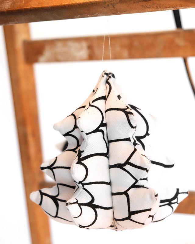 Nähanleitung Weihnachtsbäumchen in 3D-Optik.