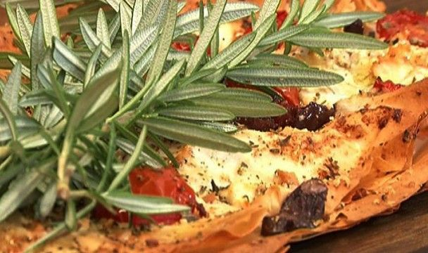 Phyllo Pizza with Feta, olives and cherry tomatoes « The Home Channel ...