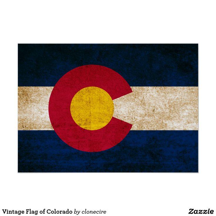Vintage Flag of Colorado