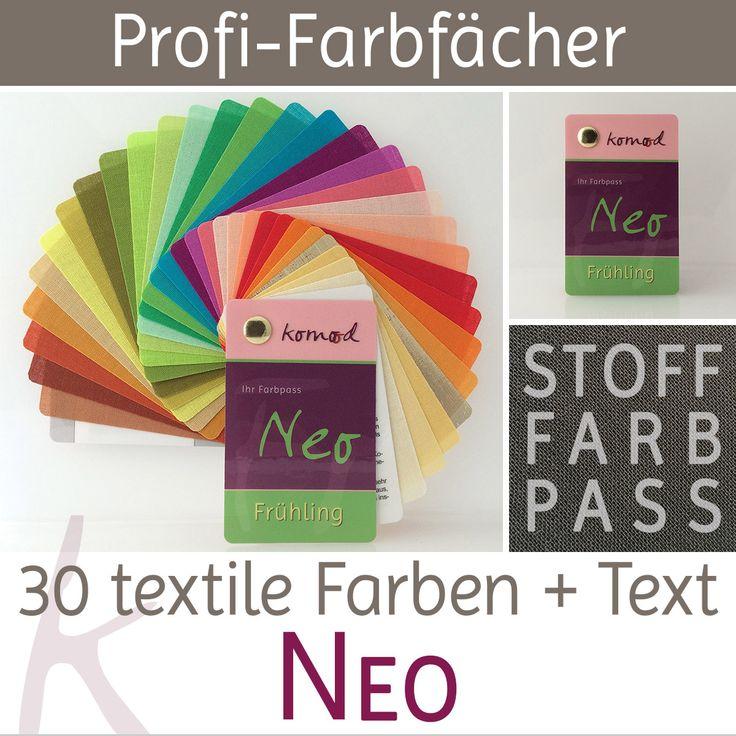 Stoff-Farbfächer / Farbpass Frühling mit 30 Farben - Neo