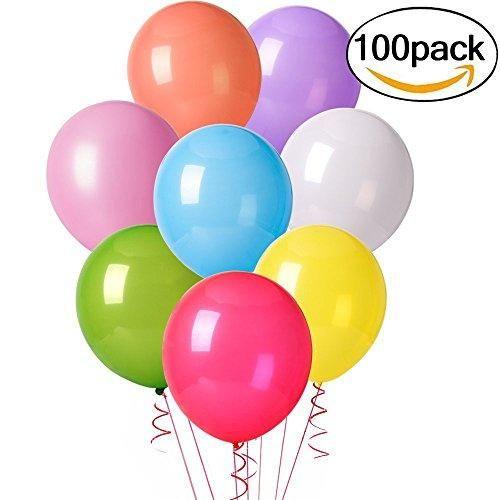 Oferta: 7.99€ Dto: -60%. Comprar Ofertas de Cookey 100 Piezas de Color Partido Globos de Fiesta para la Fiesta de Cumpleaños de la Boda - 12 inch de Látex Globos barato. ¡Mira las ofertas!