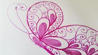 Anikó Dóbiász: Draw fantasy BUTTERFLY