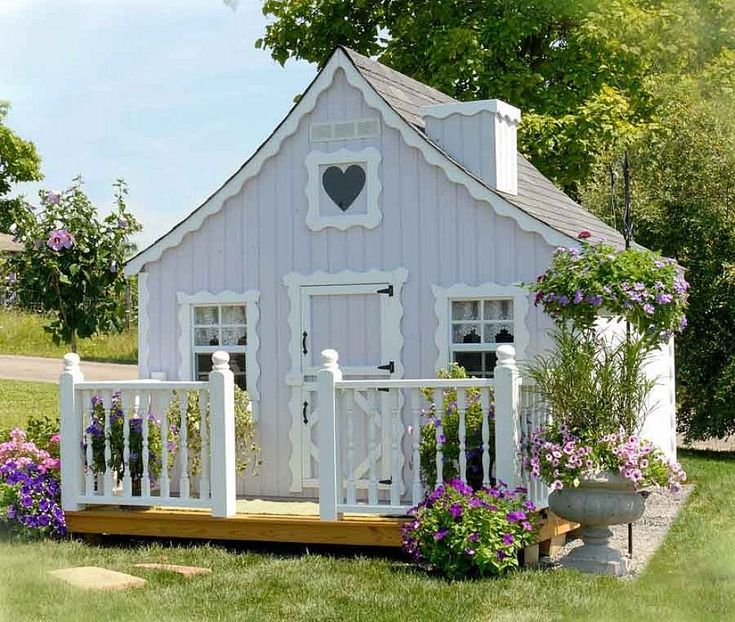 Outdoor playhouse for kids cottage kids outdoor playhouse for Outdoor clubhouse plans