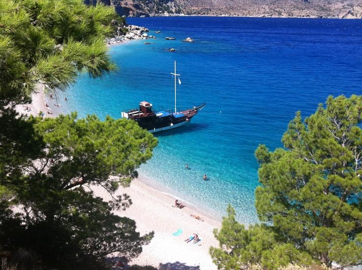 Apella beach, in karpathos island, greece