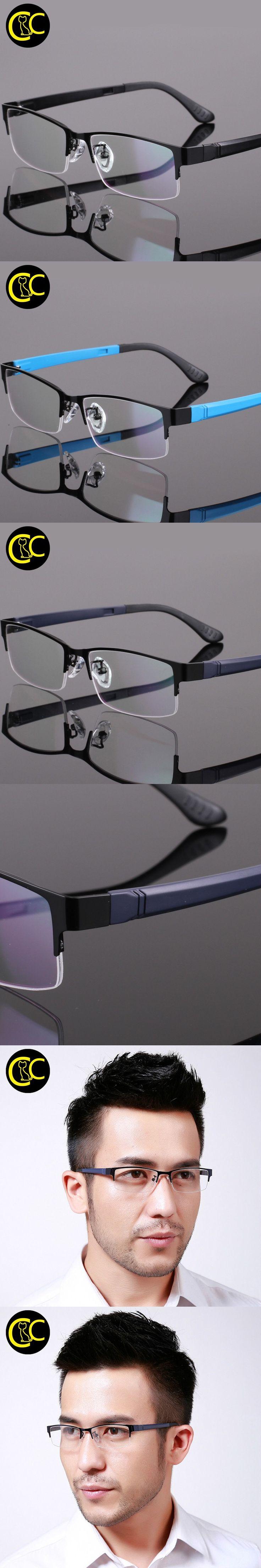 Men Optical Frames Myopia Titanium Glasses Frame Eye glasses Frames for Men Prescription Eyewear Oculos Lunette de vue CC0840 $11.41
