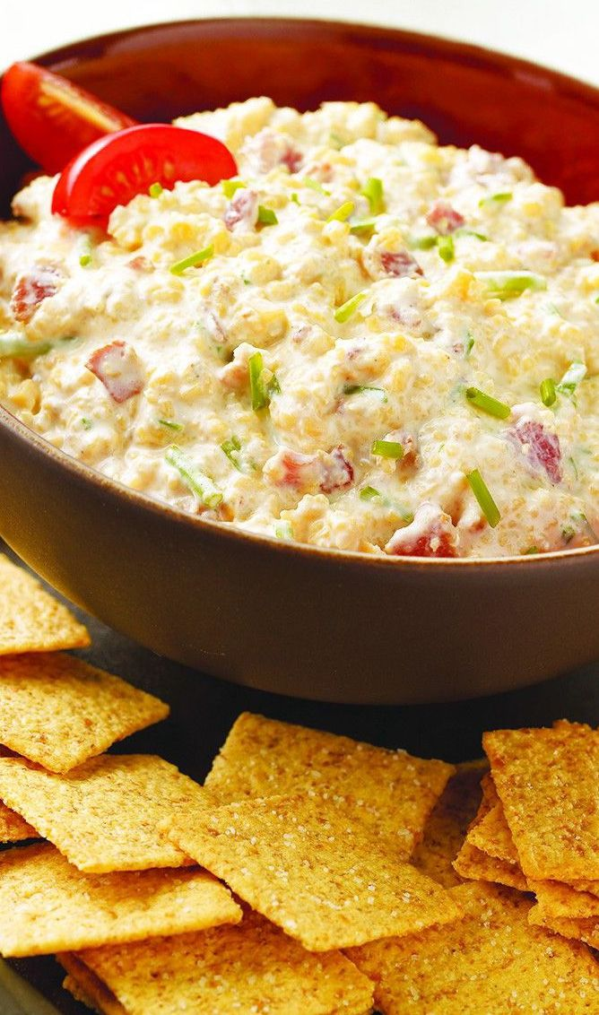 Don't let your dips be boring. Try this WHEAT THINS Horseradish-Bacon Dip recipe and pamper your taste buds.