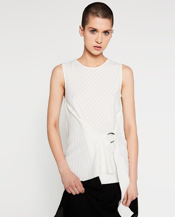 Image 2 of TOP WITH RIBBON DETAIL from Zara