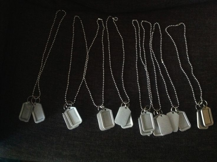 DIY Dog tags for army military call of duty party