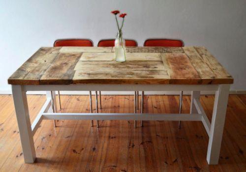Esstisch, Bauholz im Shabby-Landhaus-Stil handmade / Middenbalk