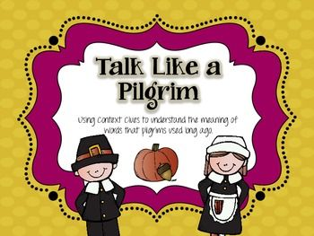 Talk Like a Pilgrim - a Context Clues Activity